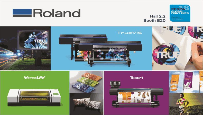 Roland DG to showcase widest range of advanced print and cut and UV-LED solutions ever at FESPA 2018