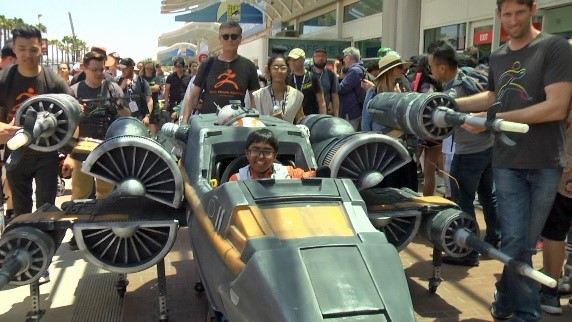 Massivit 3D helps fulfil teenager's dream with Star Wars X-Wing fighter wheelchair costume