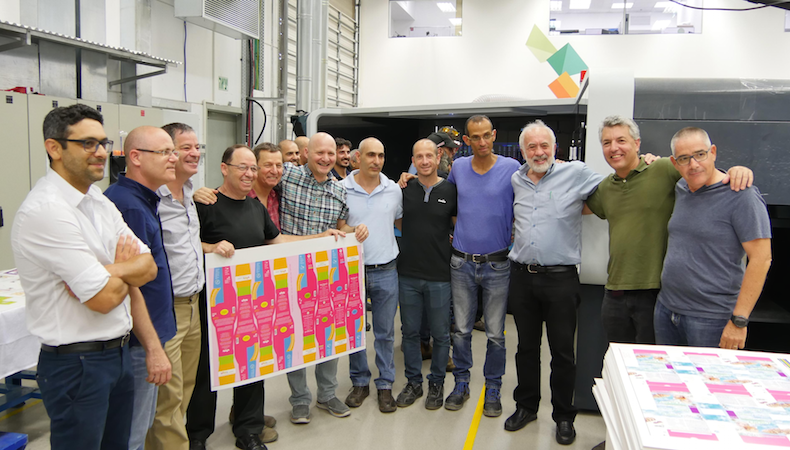 First Landa Nanographic press goes in