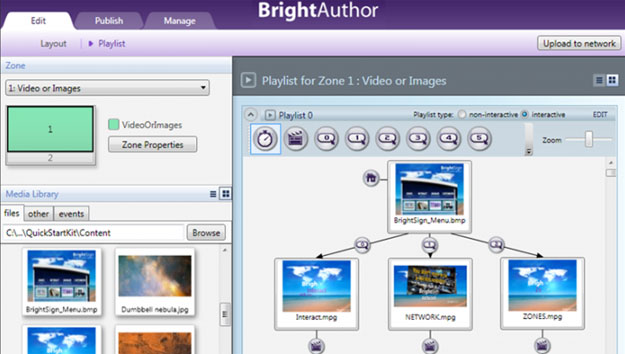 BrightAuthor - BrightSign's DOOH authoring software