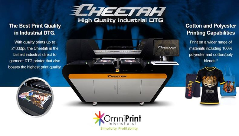 OmniPrint International Inc. Launches the new Cheetah, a high quality industrial DTG printer