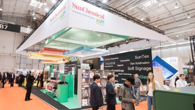 Sun Chemical presents textile inkjet inks at FESPA 2017