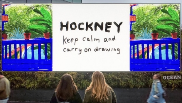 Hockney reveals latest digital art work on DOOH