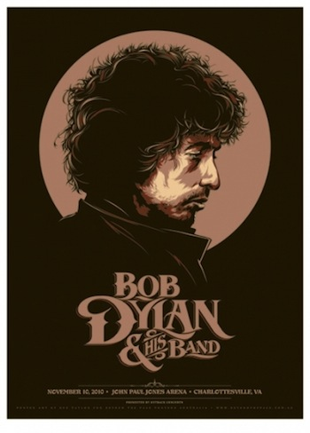 Bob Dylan screen print band poster