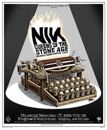 Nine Inch Nails screen print band poster