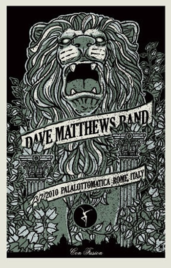 Dave Matthews Band ROME screen print band poster