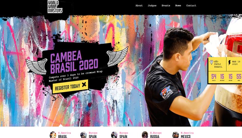 World Wrap Masters mit frischen ideen wieder bei der fespa global print expo 2020 mit dabei