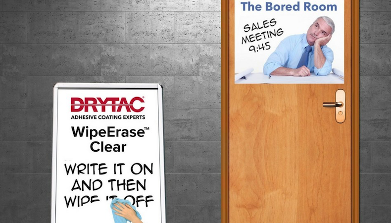 Drytac introduces WipeErase clear overlaminate film