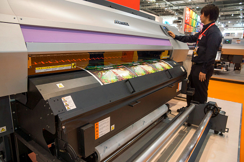 1. Mimaki UJV500 160 with extra LEDs on front