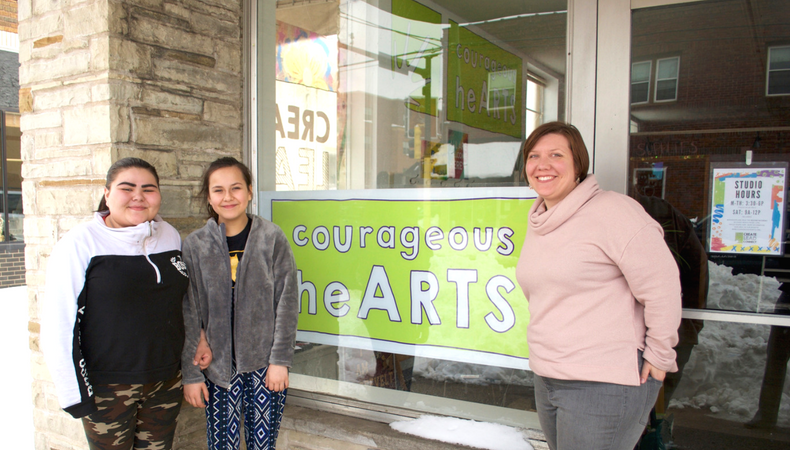Drytac ViziPrint adds vibrancy to highlight Courageous heARTS' charitable cause