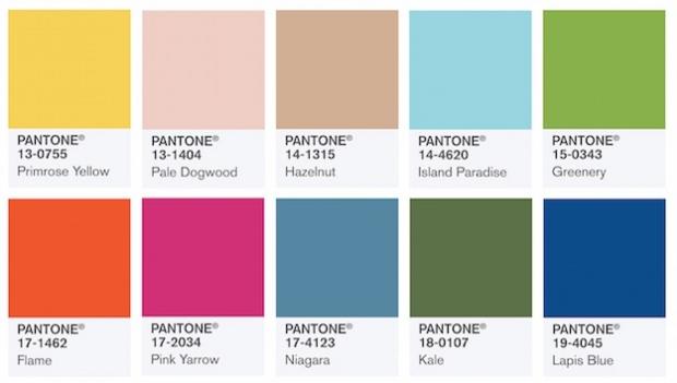 Los 10 colores que regirán el 2017 según Pantone