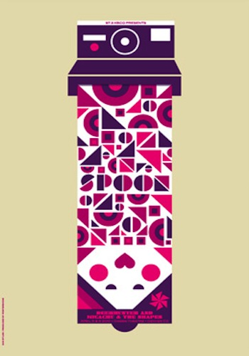 spoon screen print band poster