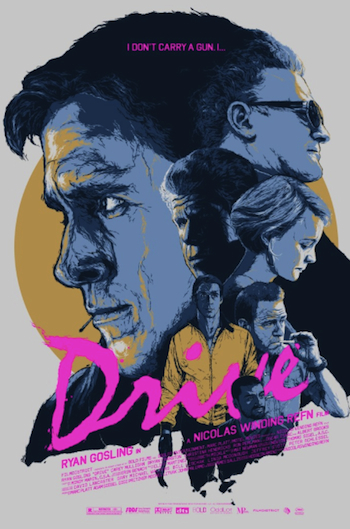 Drive movie screen print movie poster