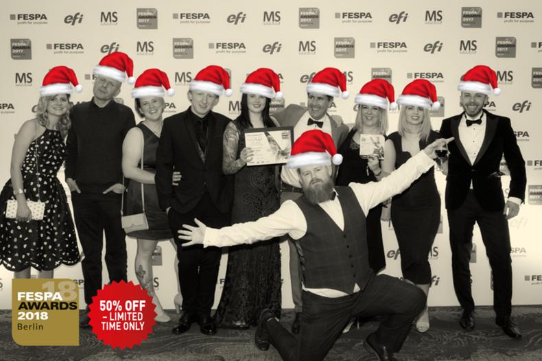 Christmas Flash Sale to enter the FESPA Awards