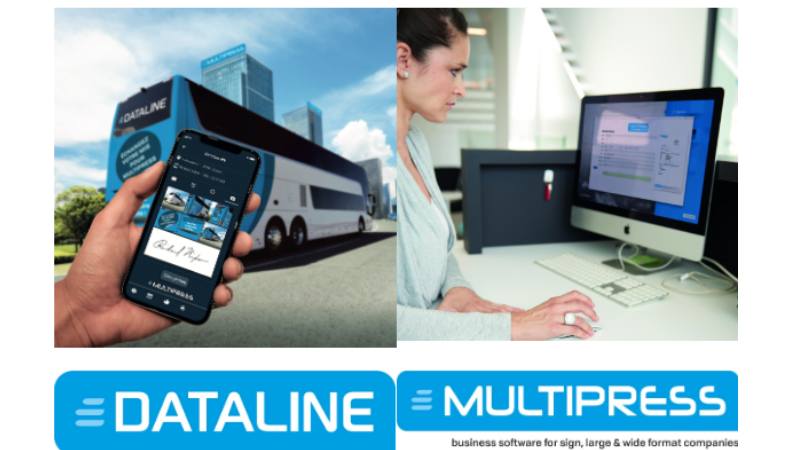Get on the MultiPress bus, Dataline spearheads MIS/ERP software professionalisation at FESPA 2019