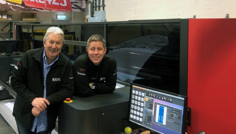 CMYUK's VUTEk FabriVu gives Colour Graphics a tenfold increase in  print speed and the flexibility t