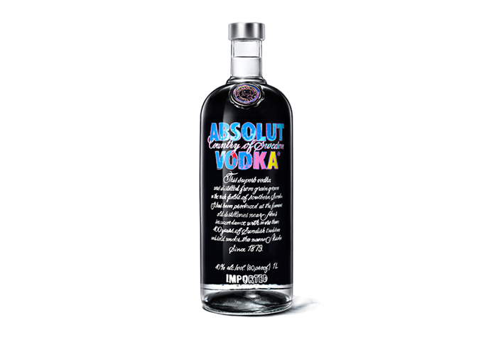 2. Absolut limited edition bottle web