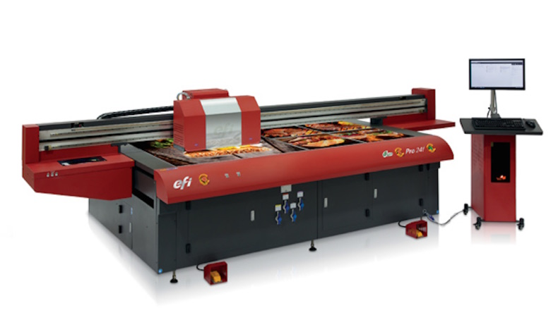 EFI releases new LED flatbed printer