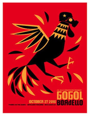gogol screen print band poster left