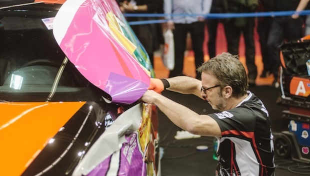 FESPA puts race car under wraps in creative competition