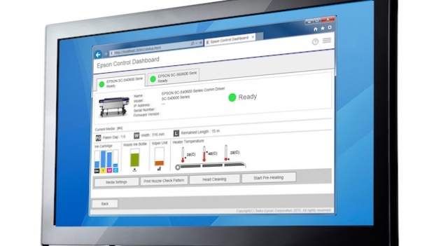 Epson Control Dashboard debuts at FESPA Digital 2016