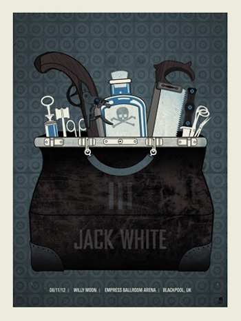 Jack White screen print band poster