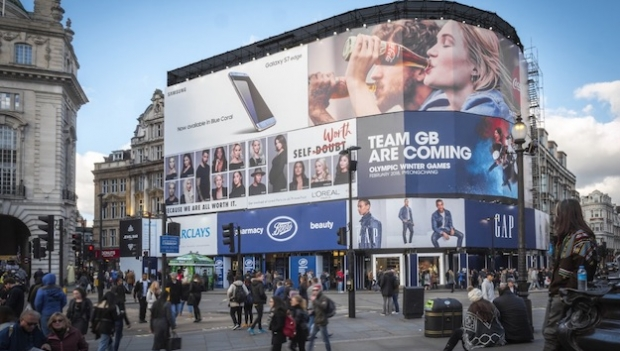 Ocean unveils new Piccadilly Lights banner