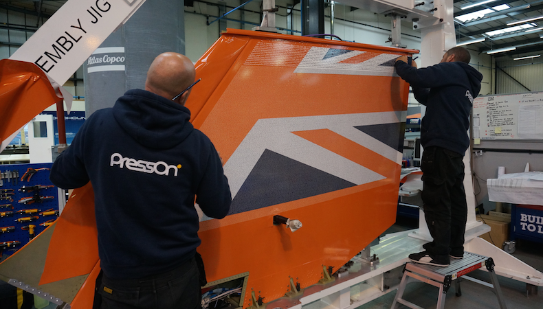 PressOn handles Bloodhound SSC wrap