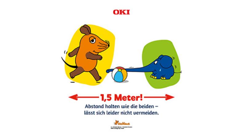OKI Europe se asocia con WDR en la campaña de distanciamiento social diseñada para niños