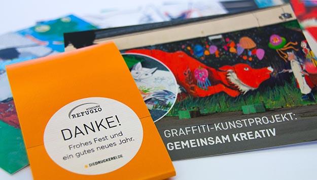 """Graffiti-Projekt """"on the road"""": Mit Kunst gegen Flucht-Traumata"""