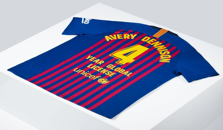 Avery Dennison scores with global FC Barcelona deal