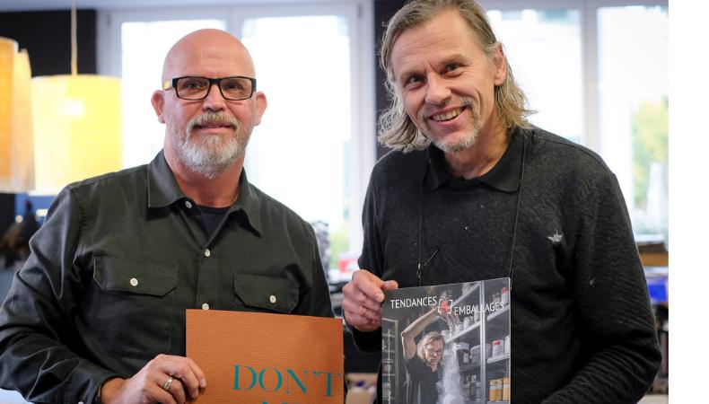 Graeme meets Lorenz Boegli at Atelier fuer Siebdruck in Switzerland