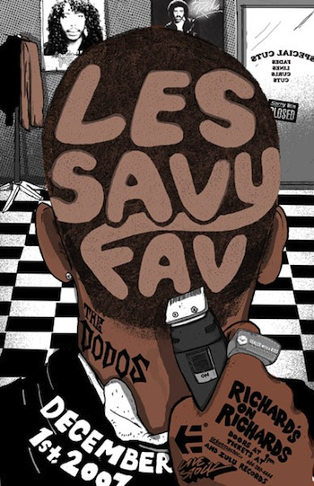 les savy fav screen print band poster