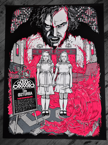 redrum the shining screen print movie poster