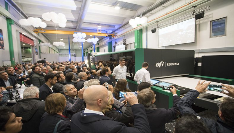 EFI introduces next generation single-pass Reggiani BOLT textile digital printer