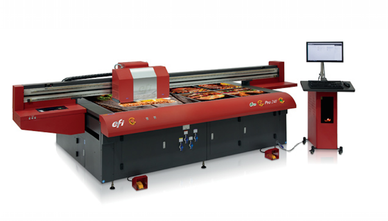 EFI announces availability of Pro24 flatbed printer