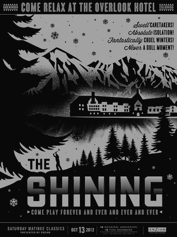Shining screen print movie poster