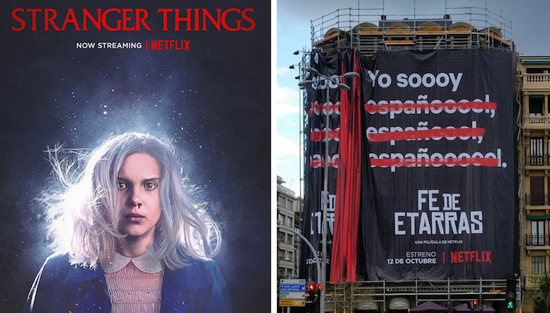 Estética ochentera y polémica en las nuevas campañas de Netflix