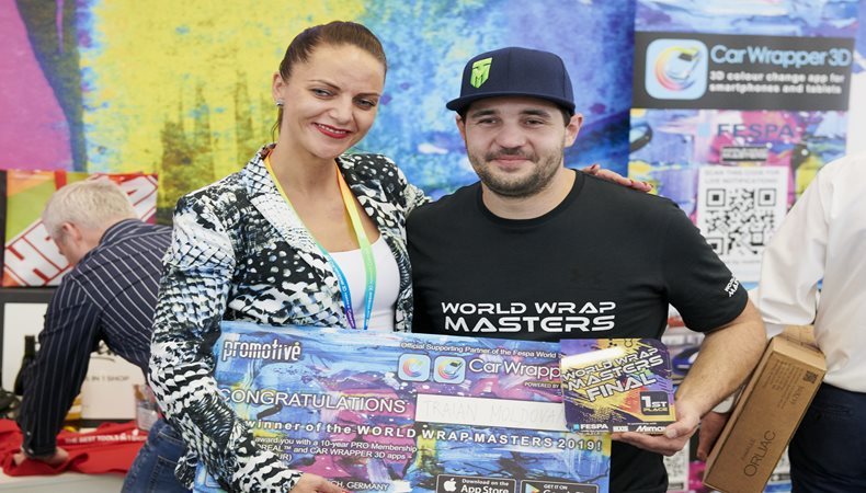 Triain Moldovan crowned World Wrap Masters champion at Global Print Expo 2019