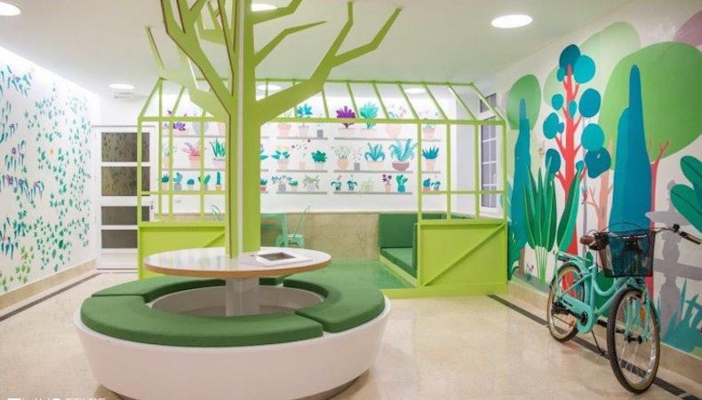 HP transforma el aréa pediátrica de un hospital en un mundo mágico