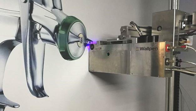 Wallpen – vertikal drucken Xaar-Technologie