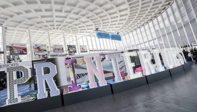 Die Printeriors präsentiert auf der Global Print Expo 2019 dekoranwendungen für drinnen und draussen