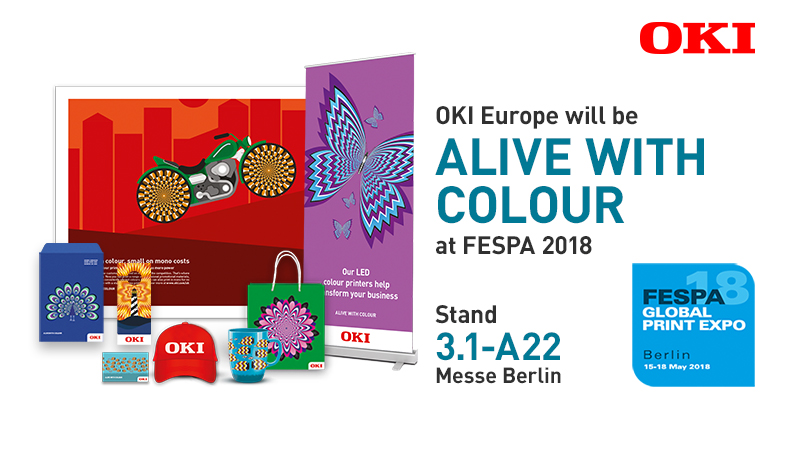 OKI Europe to exhibit revenue boosting technologies at FESPA 2018 as Gold Sponsor