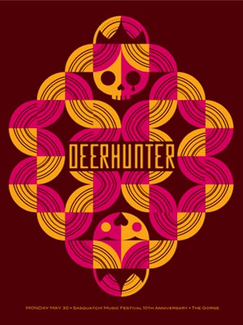 deerhunter screen print band poster
