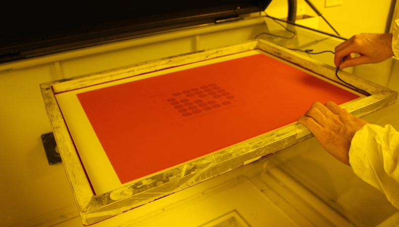 Can you use post-exposure to improve the durability of stencils for screen printing?
