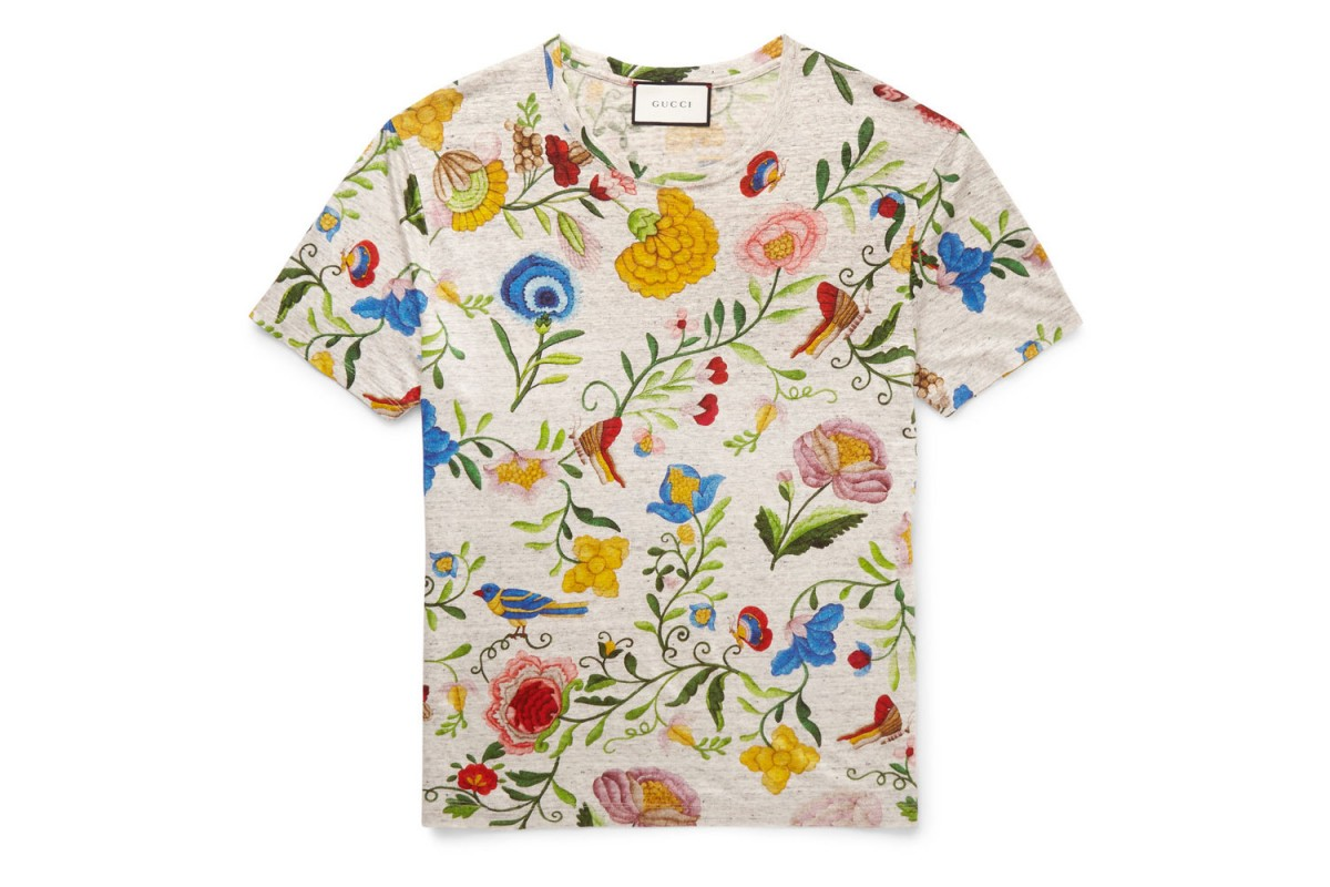 b0f515eb7 Designer brands join the t-shirt printing trend. Gucci