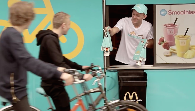 Nuevo packaging de McDonald's para ciclistas