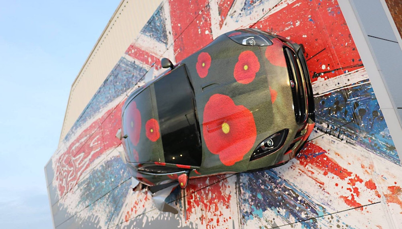 Jaguar landmark gets poppy makeover