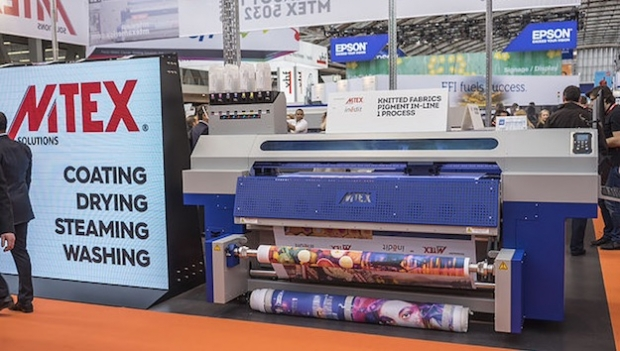 MTEX launches Blue K digital printer at FESPA Digital