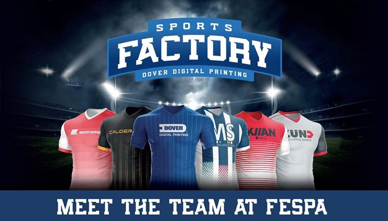 Dover Digital Printing to sponsor the SportsFactory at FESPA 2018